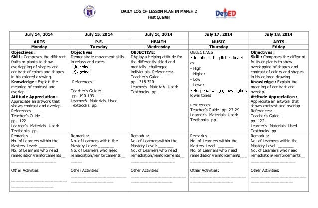 k to 12 grade 2 dll mapeh q1 q4 q4 rh slideshare net teachers guide in mapeh 7 teacher's guide in mapeh 7 pdf