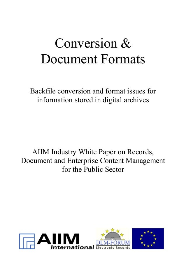 EN] Conversion & Document Formats | DLM Forum Industry Whitepaper 02…
