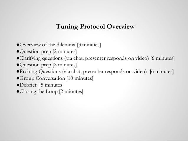 DLMOOC - Tuning Protocol on Academic Mindsets Slide 3