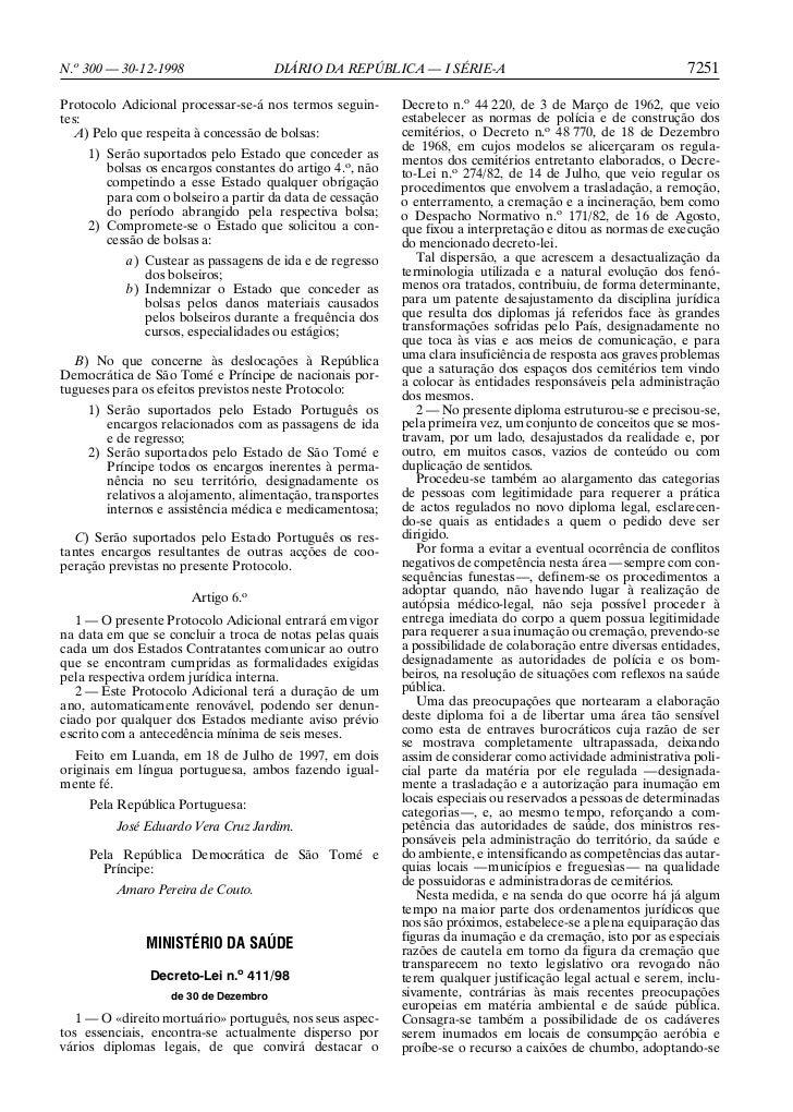 N.o 300 — 30-12-1998                   DIÁRIO DA REPÚBLICA — I SÉRIE-A                                      7251Protocolo ...