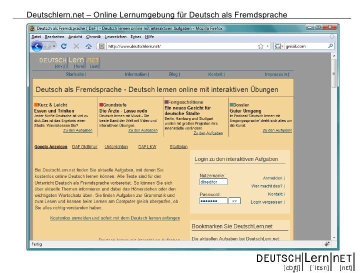 Deutschlern.net – Online Lernumgebung für Deutsch als Fremdsprache