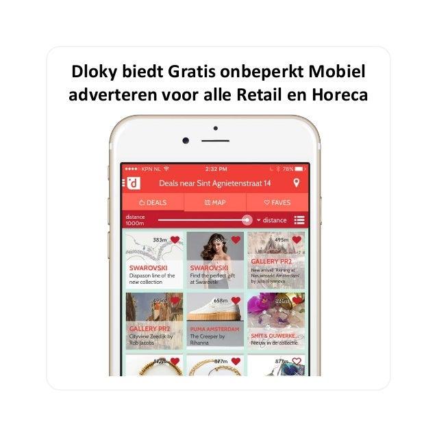 Dloky biedt Gratis onbeperkt Mobiel adverteren voor alle Retail en Horeca