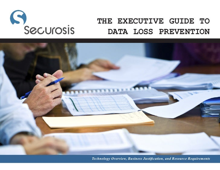 THE EXECUTIVE GUIDE TO      DATA LOSS PREVENTION     Technology Overview, Business Justification, and Resource Requirements