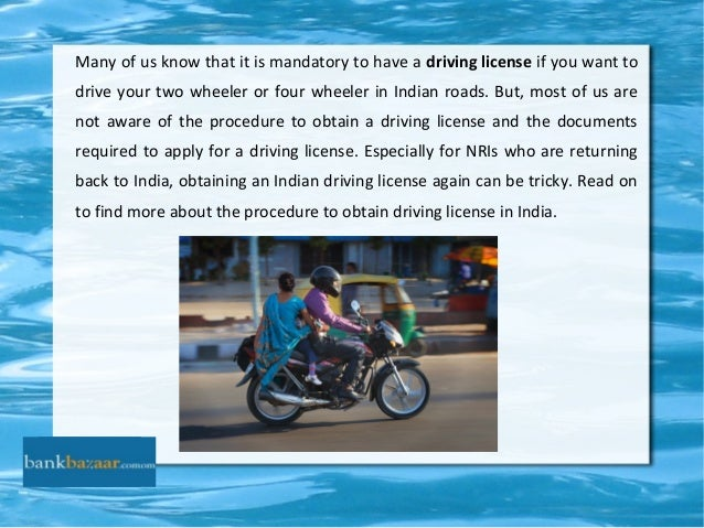 A How To India In Get Driving License