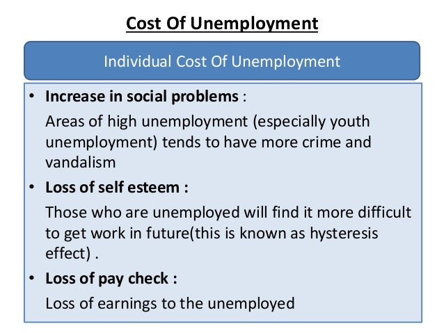 economic and social costs of unemployment 2 focus on health making mental health count © oecd, july 2014 mental illness and unemployment: a vicious cycle unemployment can lead to mental illness, and those.