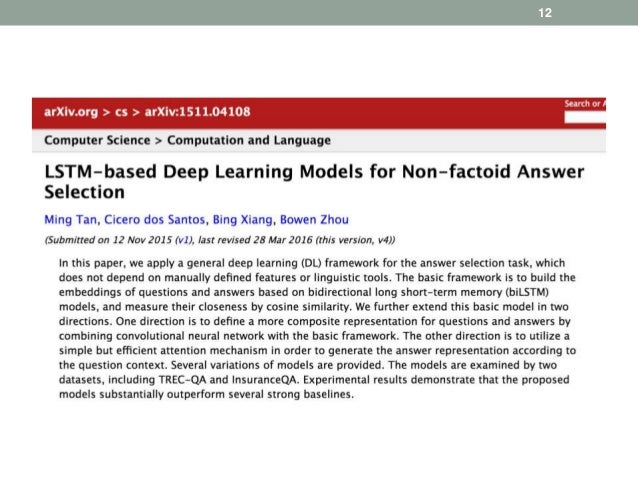 Deep Learning Models For Question Answering - 21 deep questions that need answering in 2016