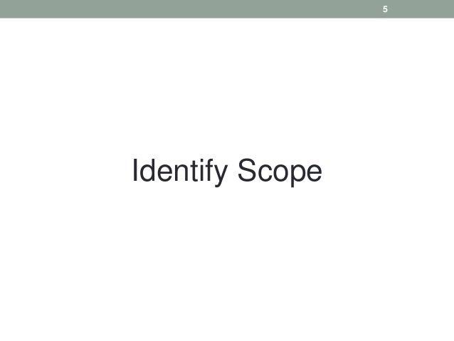 Identify Scope 5