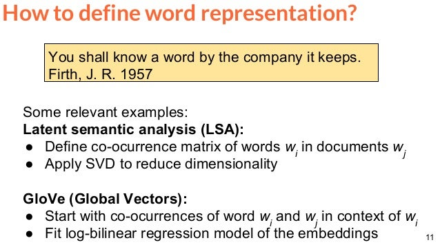 Word Embeddings (D2L4 Deep Learning for Speech and Language