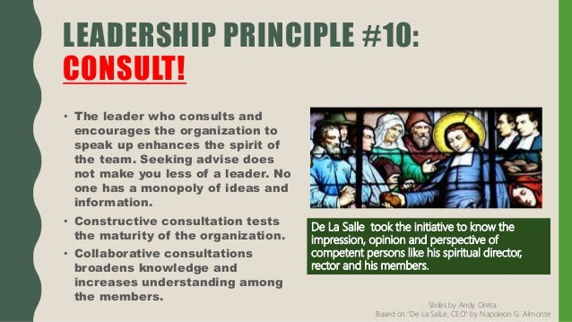 De La Salle CEO 10-leadership-principles
