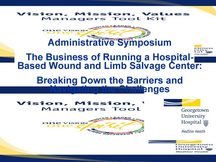Administrative Symposium The Business of Running a Hospital-Based Wound and Limb Salvage Center:  Breaking Down the Barrie...