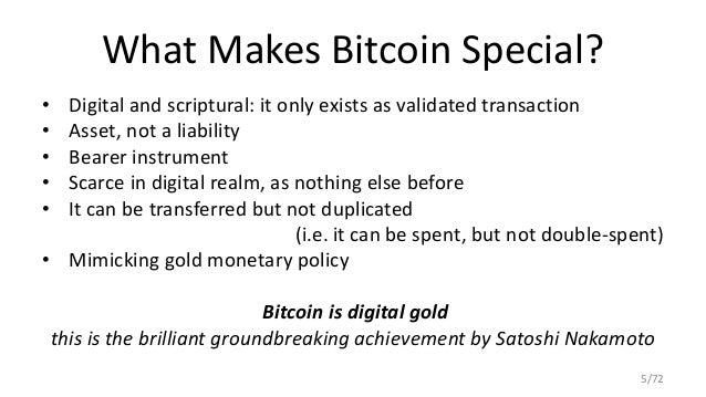 5 What Makes Bitcoin Special