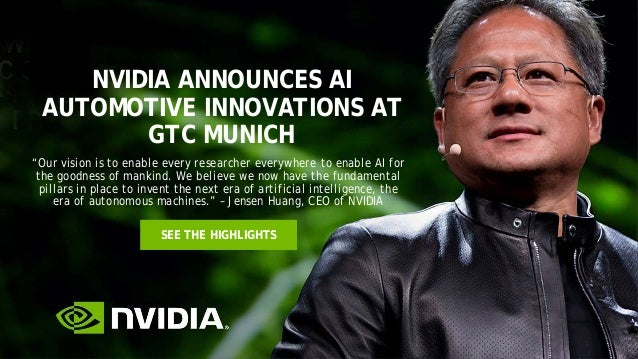 """NVIDIA ANNOUNCES AI AUTOMOTIVE INNOVATIONS AT GTC MUNICH SEE THE HIGHLIGHTS """"Our vision is to enable every researcher ever..."""