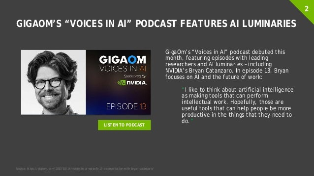 """GIGAOM'S """"VOICES IN AI"""" PODCAST FEATURES AI LUMINARIES GigaOm's """"Voices in AI"""" podcast debuted this month, featuring episo..."""