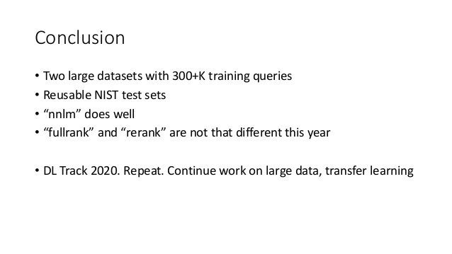Overview of the TREC 2019 Deep Learning Track