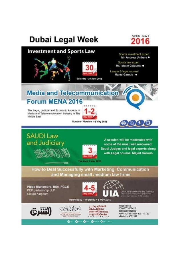 Dubai Legal Week 2016