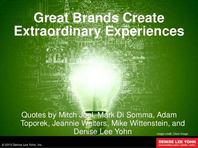 Do something extraordinary
