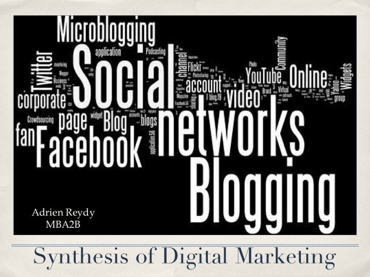 Synthesis of Digital Marketing Adrien Reydy MBA2B