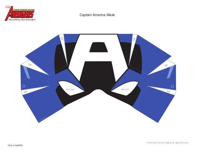 Dm avenger captain america mask printable 0910 for Avengers mask template