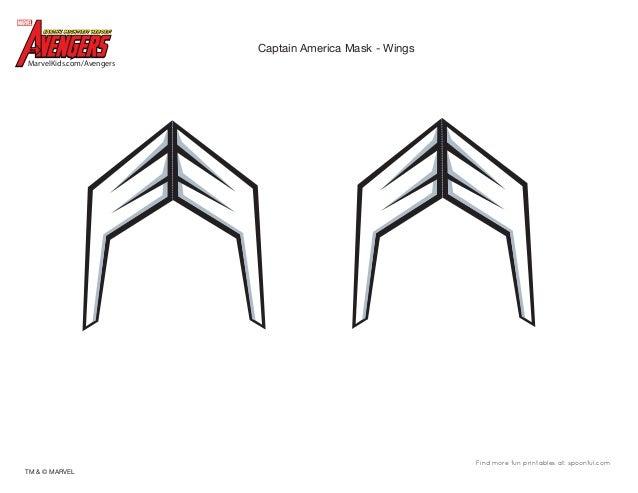 photo relating to Captain America Mask Printable named Dm avenger-captain-the united states-mask-printable-0910