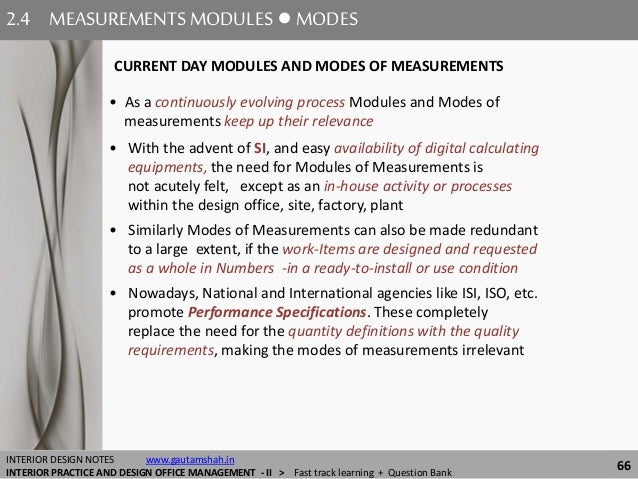 MEASUREMENTS 66 24 MEASUREMENTSMODULES MODES INTERIOR DESIGN