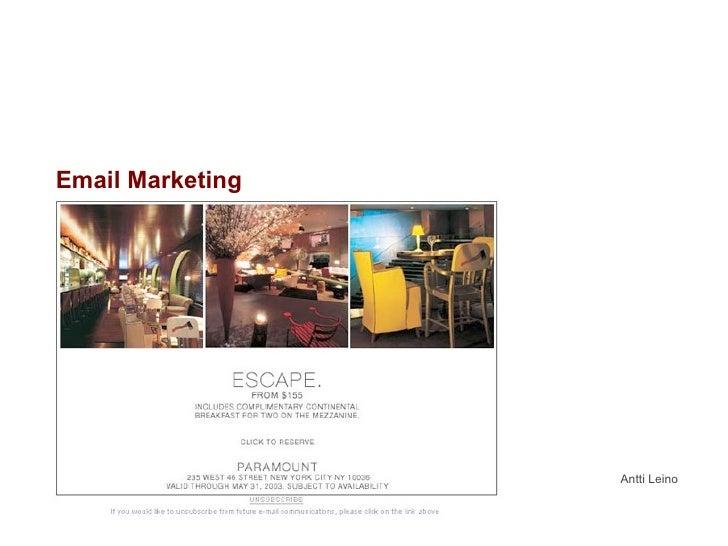 Email Marketing Antti Leino
