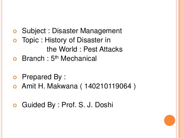 What is disaster management?