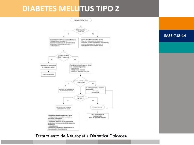 METAS TERAPÉUTICAS DIABETES MELLITUS TIPO 2 IMSS-718-14 Tratamiento de Neuropatía Diabética Dolorosa