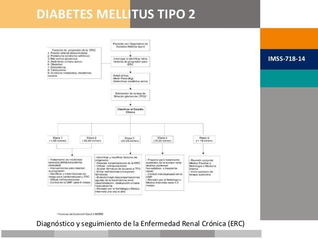 METAS TERAPÉUTICAS DIABETES MELLITUS TIPO 2 IMSS-718-14 Diagnóstico y seguimiento de la Enfermedad Renal Crónica (ERC)
