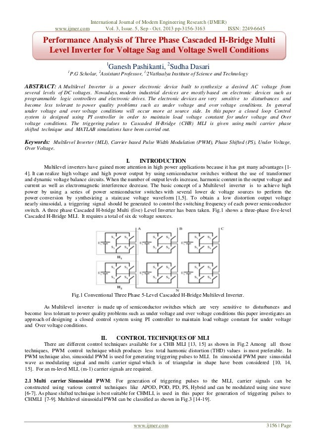 www.ijmer.com  International Journal of Modern Engineering Research (IJMER) Vol. 3, Issue. 5, Sep - Oct. 2013 pp-3156-3163...