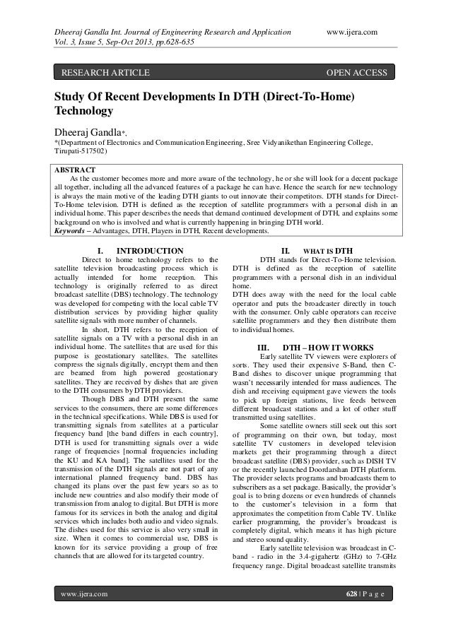 Dheeraj Gandla Int. Journal of Engineering Research and Application www.ijera.com Vol. 3, Issue 5, Sep-Oct 2013, pp.628-63...