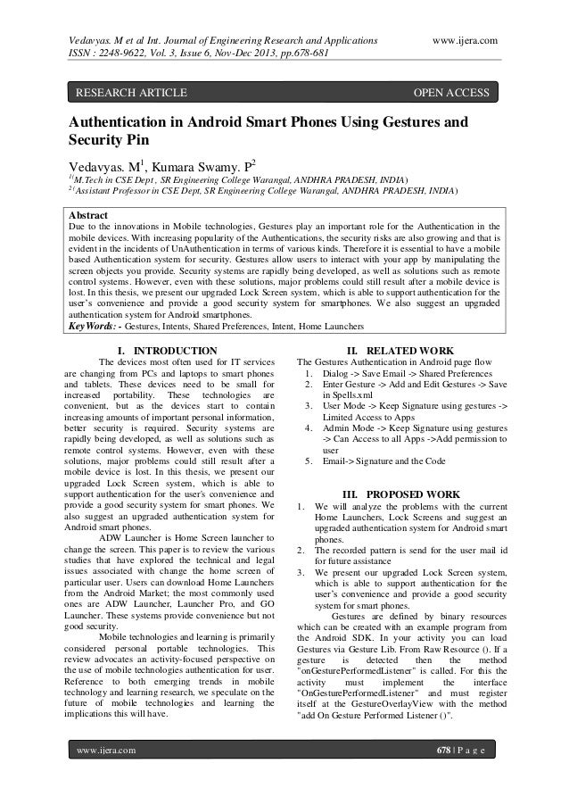 Vedavyas. M et al Int. Journal of Engineering Research and Applications ISSN : 2248-9622, Vol. 3, Issue 6, Nov-Dec 2013, p...
