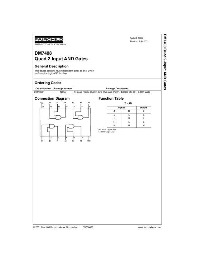 DM7408 Quad 2-Input AND Gates                                                                                             ...