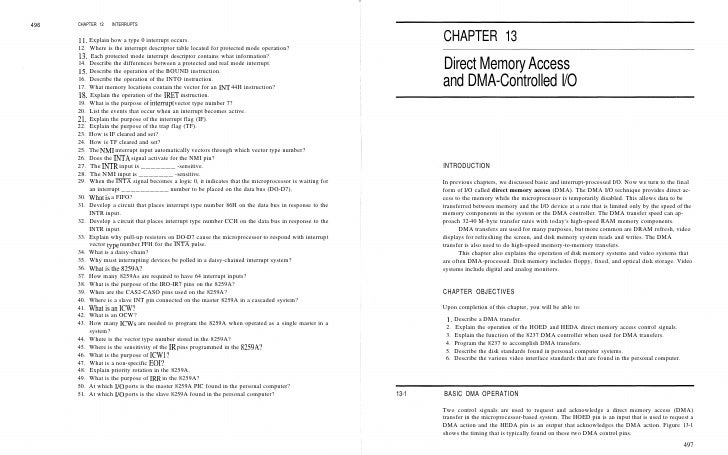 496   CHAPTER 12    INTERRUPTS         11.   Explain how a type 0 interrupt occurs.                                       ...