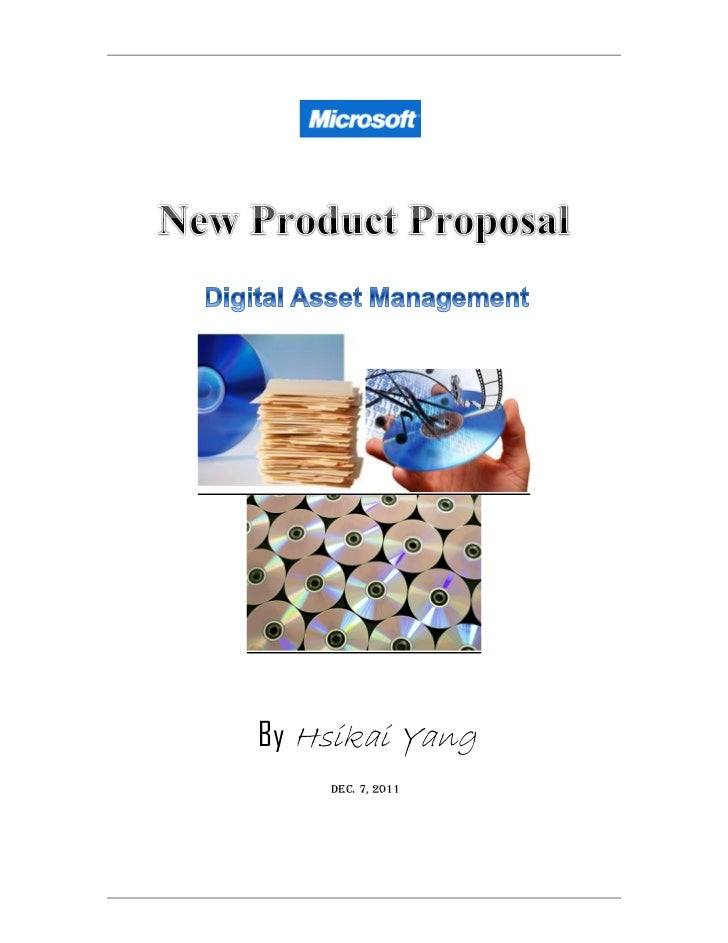 By Hsikai Yang Dec.  Product Proposal Template