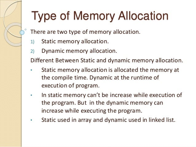 Dynamic memory Allocation in c language