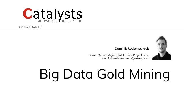 © Catalysts GmbH Big Data Gold Mining Dominik Rockenschaub Scrum Master, Agile & IoT Cluster Project Lead dominik.rockensc...