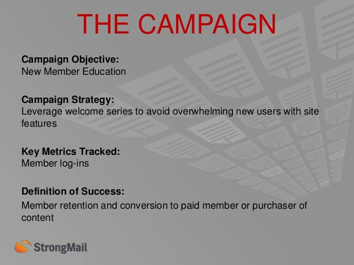 THE CAMPAIGNEmail #2 in Series: Welcome 1•   1 Week Post Joining•   Touts Features•   Game Suggestions•   Loyalty