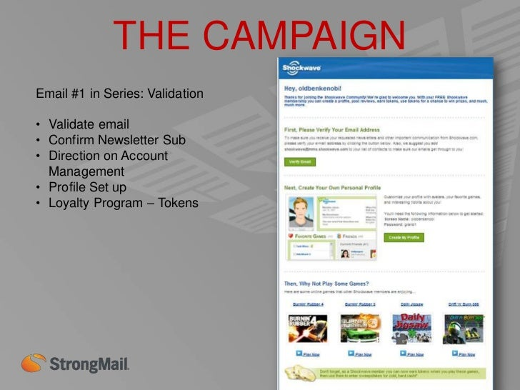 THE CAMPAIGNEmail #3 in Series: Welcome 2•   2 Weeks Post Joining•   Solicits User-Generated Content•   Game Suggestions• ...