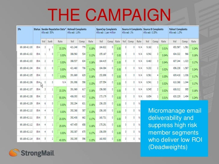 THE CAMPAIGNDeliver targeted versionsof the daily emails basedon members category ofinterest. – LeverageWOM