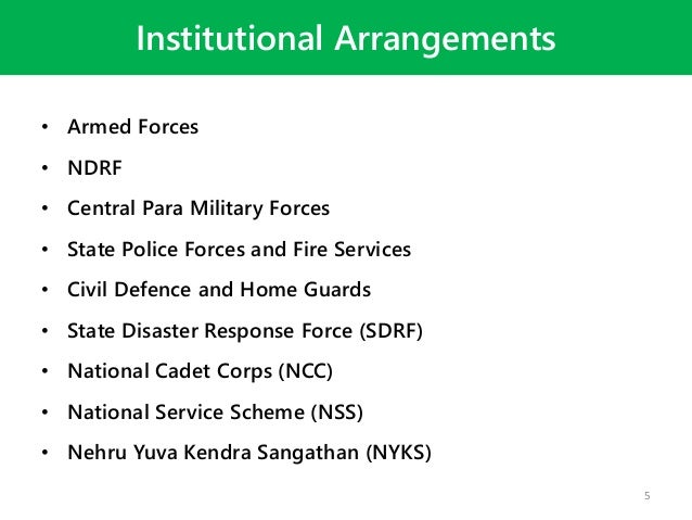 role of armed forces in disaster management Increased interest in disaster response on the part of military institutions some of the reasons for military actors' increased interest in disaster response are related to public perception, staff morale, relevant training opportunities, and humanitarian operations as a means for armed forces to diversify their role and expertise.