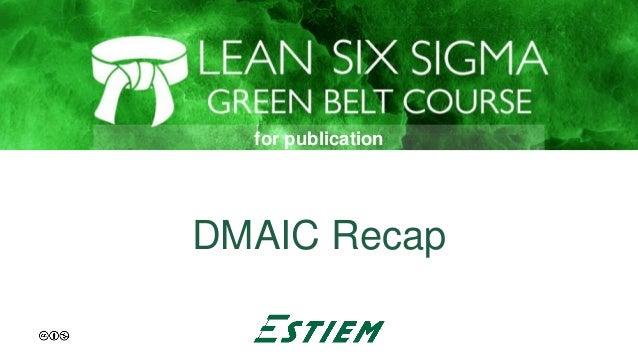 DMAIC Recap for publication