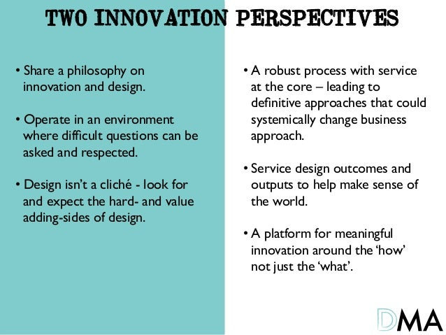 Innovation - Two Perspectives