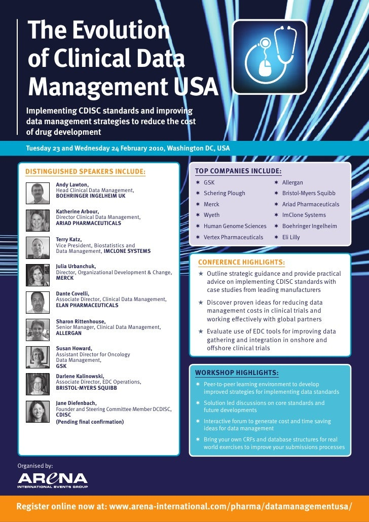 The Evolution    of Clinical Data    Management USA    Implementing CDISC standards and improving    data management strat...