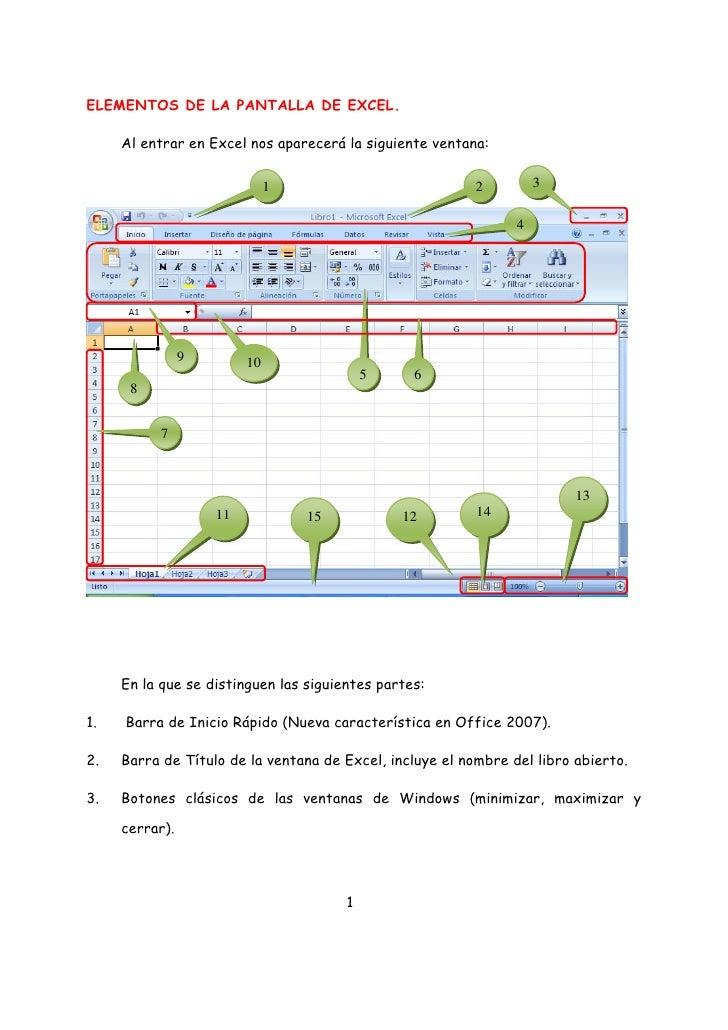 ELEMENTOS DE LA PANTALLA DE EXCEL.       Al entrar en Excel nos aparecerá la siguiente ventana:                           ...