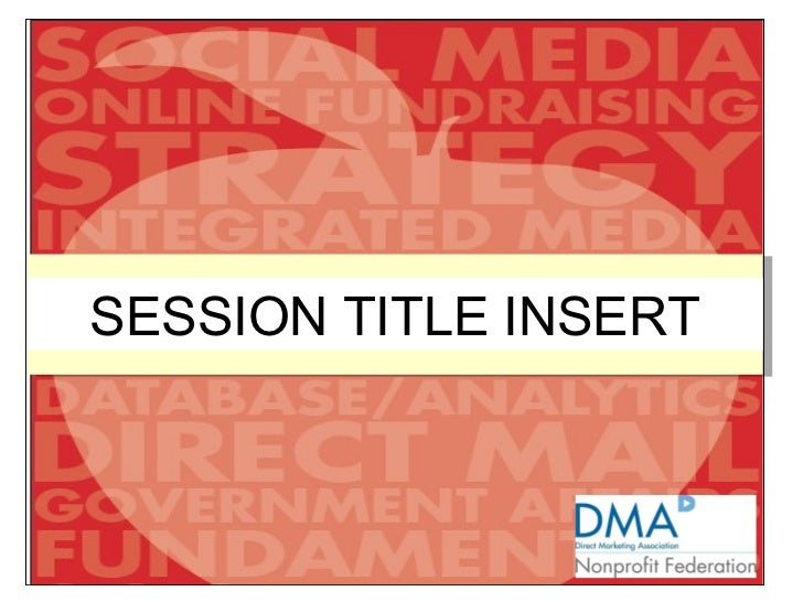 SESSION TITLE INSERT