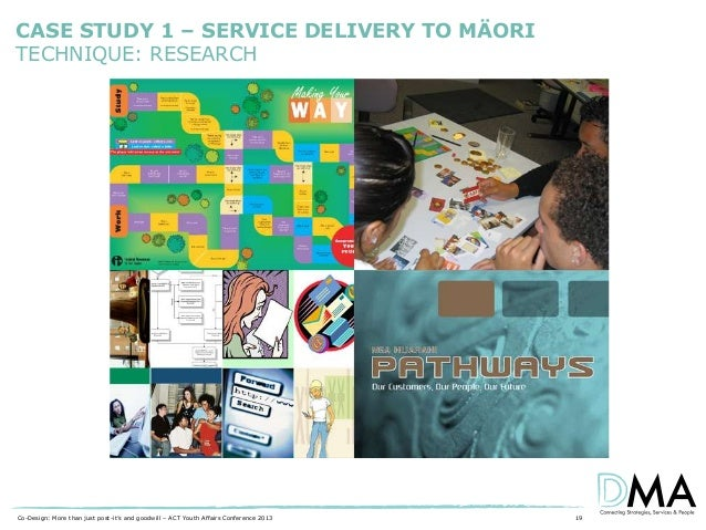 CASE STUDY 1 – SERVICE DELIVERY TO MÄORI TECHNIQUE: RESEARCH  Co-Design: More than just post-it's and goodwill – ACT Youth...