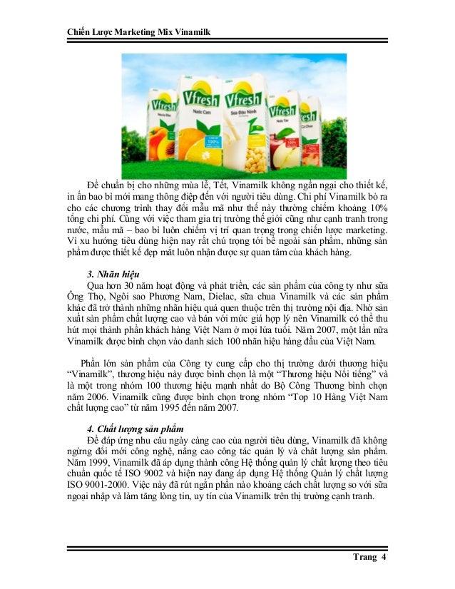 Chiến Lược Marketing Mix Vinamilk Để chuẩn bị cho những mùa lễ, Tết, Vinamilk không ngần ngại cho thiết kế, in ấn bao bì m...