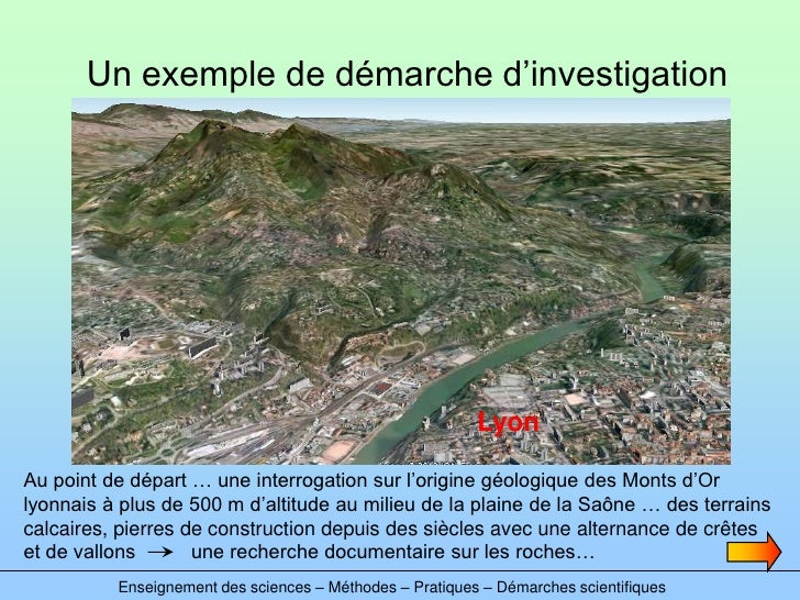 Un exemple de démarche d'investigation                                                               Lyon  Au point de dép...