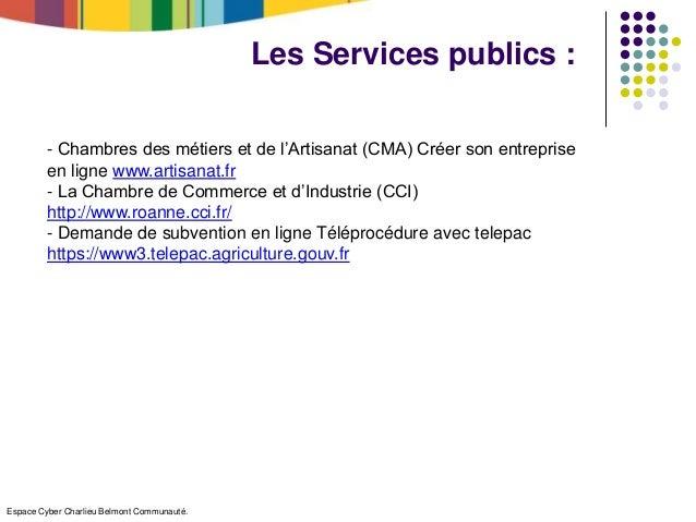 D marches en ligne et changes avec les administrations les collecti - Chambre des metiers roanne ...