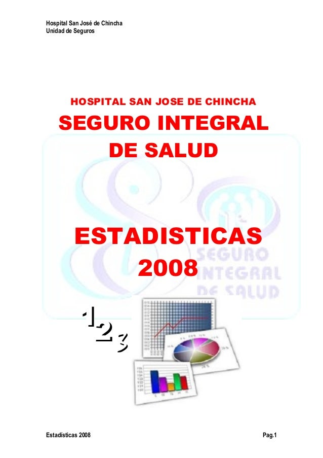 Hospital San José de Chincha Unidad de Seguros Estadísticas 2008 Pag.1 HOSPITAL SAN JOSE DE CHINCHA SEGURO INTEGRAL DE SAL...